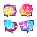 Sale, vector collection of bright discount bubble tags, banners, Royalty Free Stock Photo