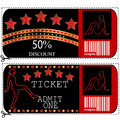 Sale voucher and ticket for night club or casino Royalty Free Stock Images