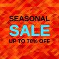 Sale web banner. Vector illustration.