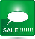 Sale web button green with bubbles Royalty Free Stock Photo