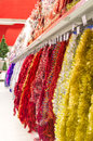 Sale of xmas decoration Stock Image