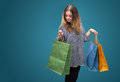 Sale. Young woman with shopping bags Royalty Free Stock Photo