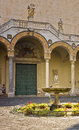 Salerno Cathedral Courtyard, Italy Royalty Free Stock Photo