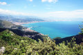 Salerno gulf the landscape of in italy Stock Photo