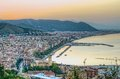 Salerno panoramic view of at dawn Royalty Free Stock Images