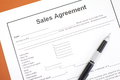 Sales agreement document photo of Stock Photography