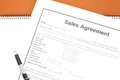 Sales agreement document photo of Royalty Free Stock Photo