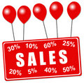 Sales balloons Royalty Free Stock Photo