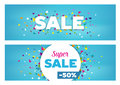 Sales Banners - Geometrical Shapes Design Royalty Free Stock Photo