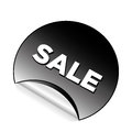 Sales a black circle icon with white text for Royalty Free Stock Photos