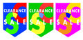 Sales clearance vector banners Royalty Free Stock Photo