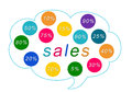 Sales colorful tags Royalty Free Stock Photos
