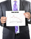Sales decline with in the red Royalty Free Stock Photo
