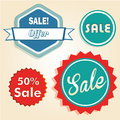 Sales four different icons with text and colors for purposes Royalty Free Stock Photo