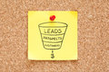 Sales Funnel Business Concept On Sticky Note Royalty Free Stock Photo