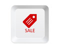 Sales keyboard button isolated on white Royalty Free Stock Images