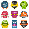 Sales labels Royalty Free Stock Photos