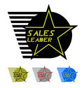 Sales leader emblem Stock Images