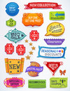Sales messages set of promotional english text lab multicolored labels signs stickers created in adobe illustrator image contains Royalty Free Stock Images