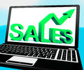 Sales On Notebook Showing Marketing Profits Royalty Free Stock Photo