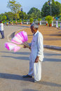 Sales people at india gate offer delhi oct cotton candy to indian tourists on oct in delhi is the symbol Royalty Free Stock Photos