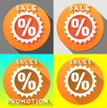 Sales promotion collage for any season discount activities Royalty Free Stock Photos