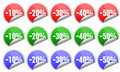 Sales stickers Royalty Free Stock Image