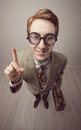 Salesman vintage nerdy old style portrait Royalty Free Stock Images