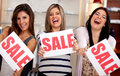 Saleswomen on sale Stock Photo