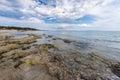 Salinas beach in ibiza spain Stock Image