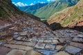 Salinas de maras sacred valley peru Stock Photos
