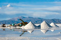 Salinas Grandes Salt desert in the Jujuy, Argentina Royalty Free Stock Photo