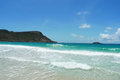Saline beach st barts french west indies at Royalty Free Stock Photo