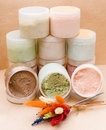 Saline body scrubs Stock Photo