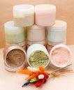 Saline body scrubs Royalty Free Stock Photo