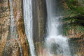 Salino waterfall detail of the in friuli north east italy in the carnia alps alpi carniche Stock Image