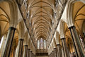 Salisbury Cathedral Ceiling Stock Photos