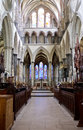 Salisbury Cathedral Interior Aisle Stock Photo