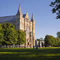 Salisbury cathedral on a summer s day Stock Photos