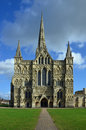 Salisbury cathedral western facade wiltshire photographed february is an anglican in england and Royalty Free Stock Photos