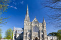 Salisbury cathedral wiltshire england uk early english gothic style with the talest spire in the country europe Stock Photos