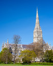 Salisbury cathedral wiltshire england uk early english gothic style with the talest spire in the country europe Royalty Free Stock Photography