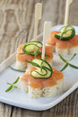 Salmon appetizer Stock Images