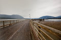 Salmon arm wharf on a cloudy afternoon Royalty Free Stock Image