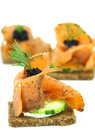 Salmon canape Royalty Free Stock Image