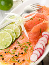 Salmon carpaccio Stock Photos