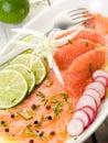 Salmon carpaccio Stock Photos