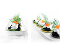 Salmon Caviar Canapes Royalty Free Stock Photo
