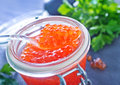 Salmon caviar Royalty Free Stock Photo