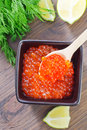 Salmon caviar Royalty Free Stock Photo